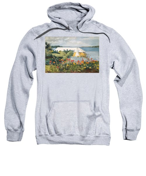 Sweatshirt featuring the painting Flower Garden And Bungalow by Celestial Images