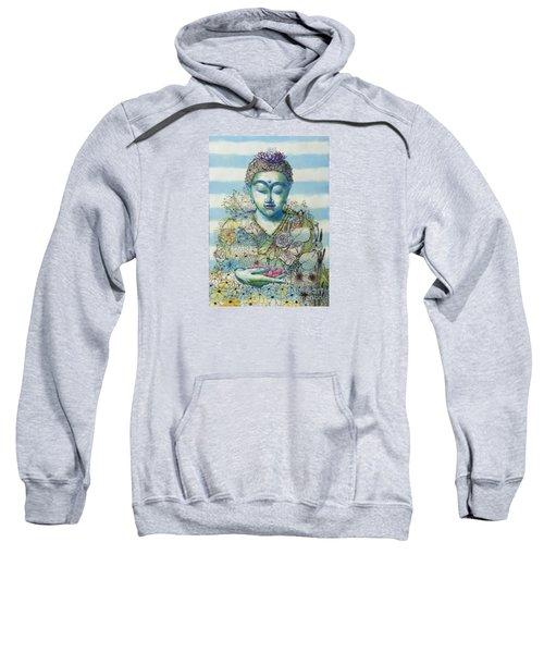 Flower Garden Buddha Sweatshirt