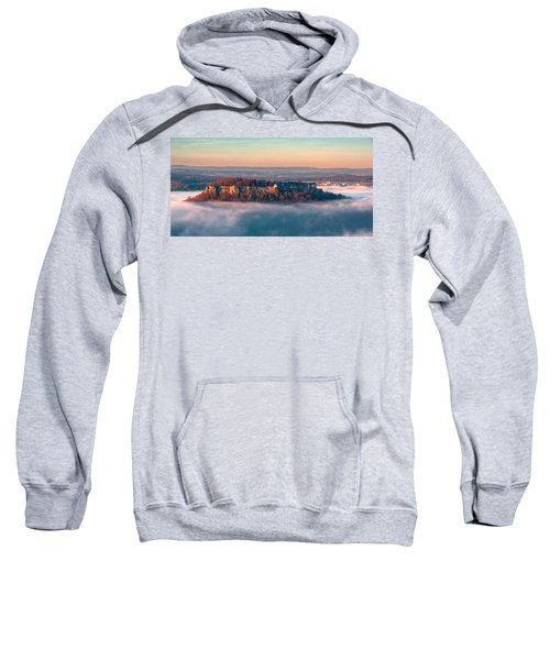 Fog Surrounding The Fortress Koenigstein Sweatshirt