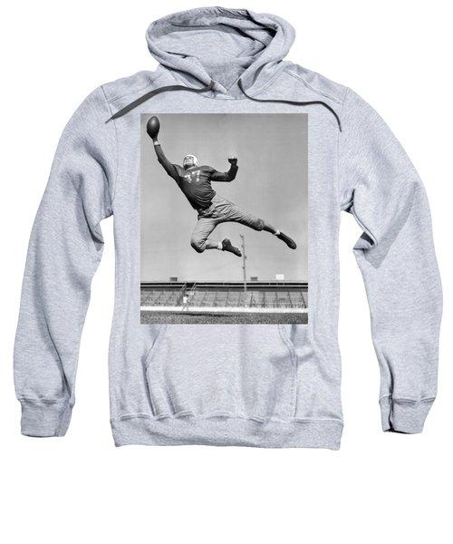 Football Player Catching Pass Sweatshirt