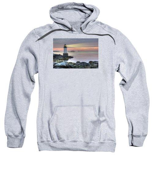 Fort Pickering Lighthouse At Sunrise Sweatshirt
