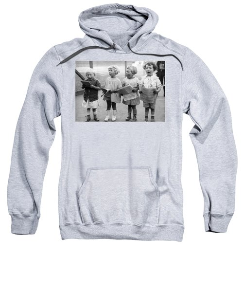 Four Young Children Singing Sweatshirt