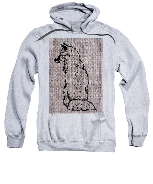 Fox On Burlap  Sweatshirt