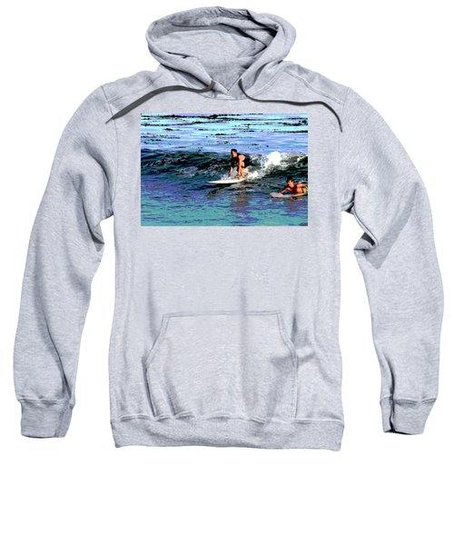 Friends Sharing A Wave Sweatshirt