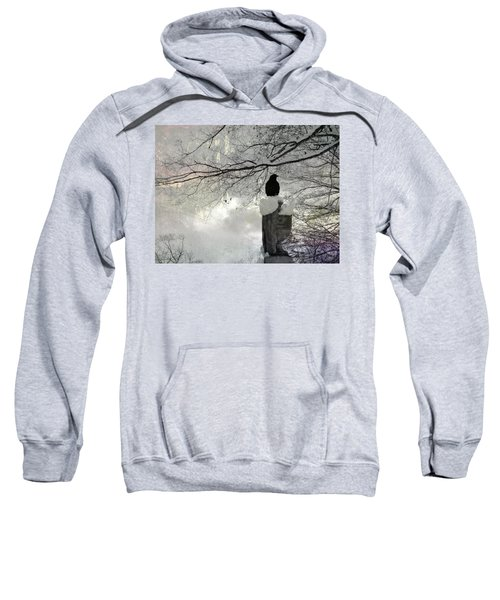 Black Crow On A Frigid Day Sweatshirt