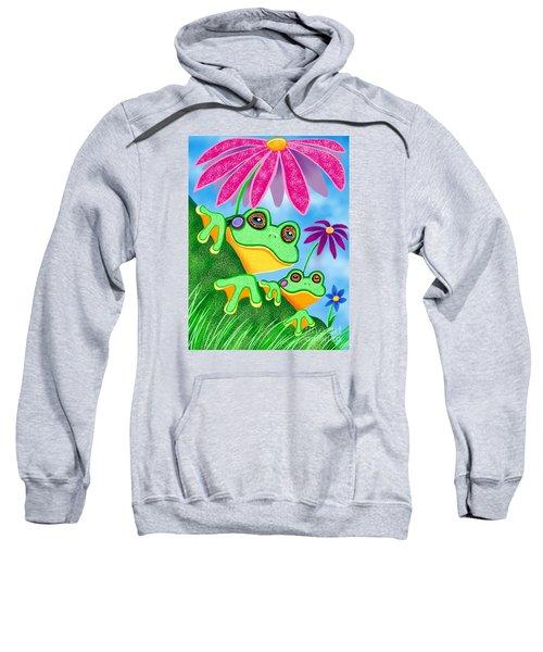 Froggies And Flowers Sweatshirt