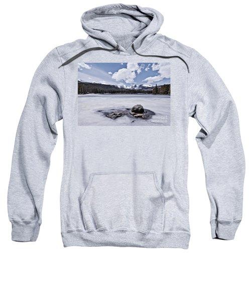 Sweatshirt featuring the photograph Frozen Lake by Mae Wertz