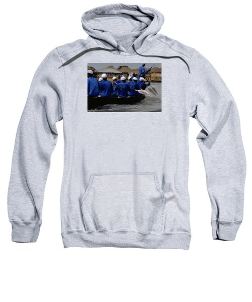 Sweatshirt featuring the photograph Ganvie - Lake Nokoue by Travel Pics
