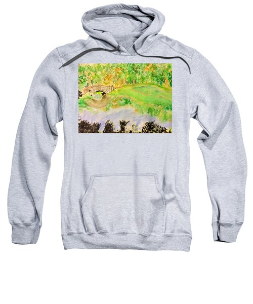 Sweatshirt featuring the painting Gapstow by Denise Railey