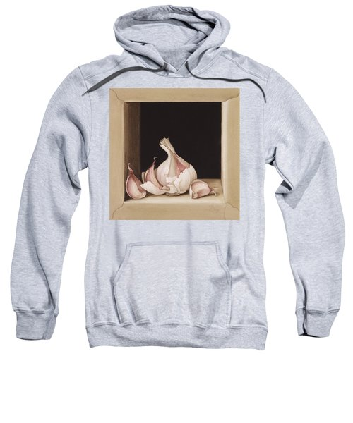 Garlic Sweatshirt by Jenny Barron