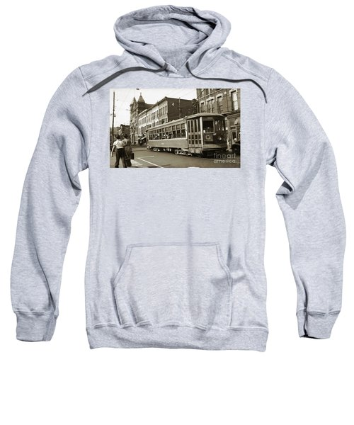 Georgetown Trolley E Market St Wilkes Barre Pa By City Hall Mid 1900s Sweatshirt