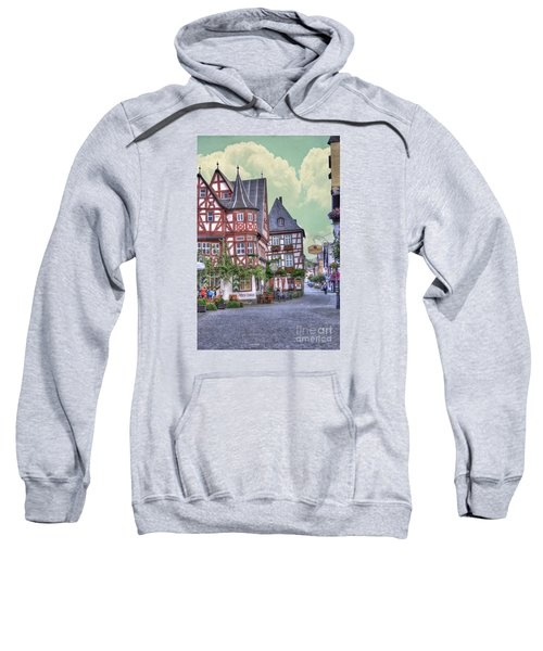 German Village Along Rhine River Sweatshirt