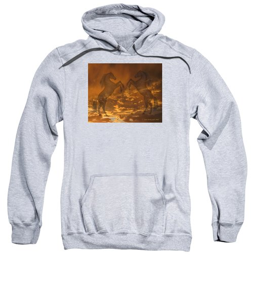 Ghost Horses At Sunset Sweatshirt by Donald and Judi Hall