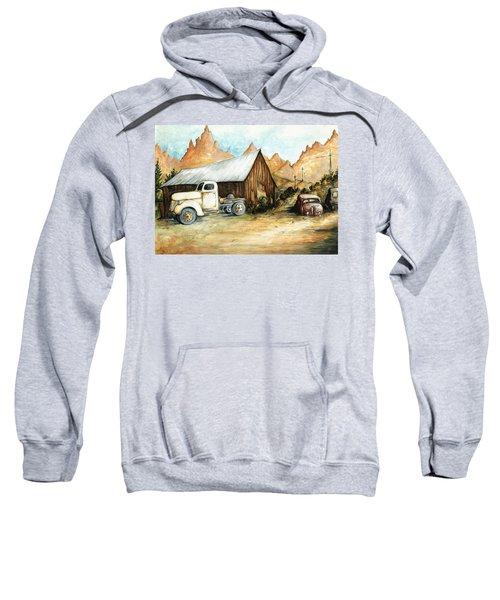 Ghost Town Nevada - Western Art Painting Sweatshirt