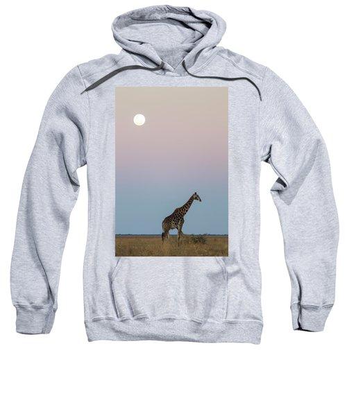 Giraffe And Moonrise, Chobe National Sweatshirt