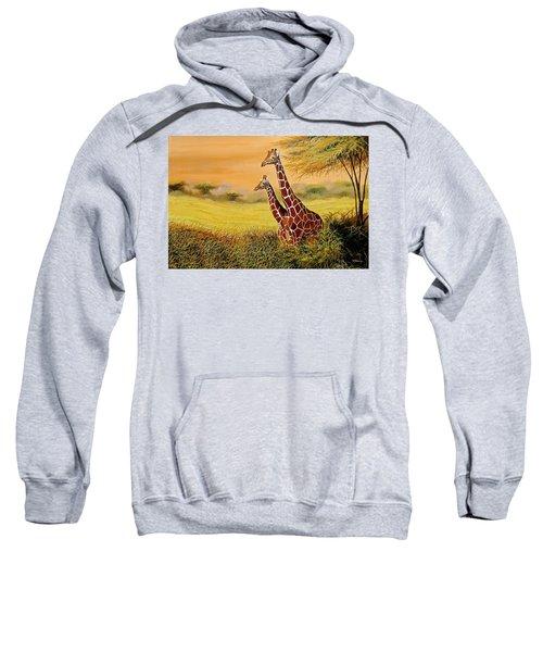 Giraffes Watching Sweatshirt