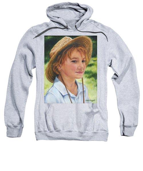 Girl In Straw Hat Sweatshirt