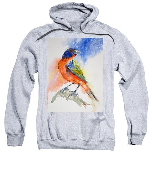 Da188 Glow Of The Painted Bunting Daniel Adams Sweatshirt