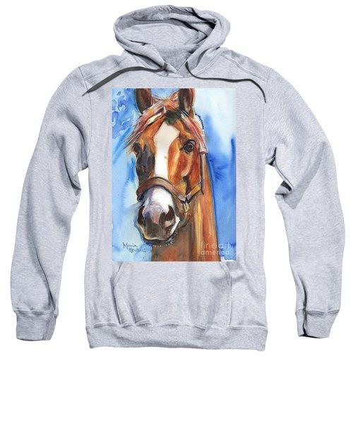 Horse Painting Of California Chrome Go Chrome Sweatshirt