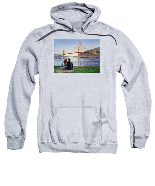 Golden Gate Bridge San Francisco - Two Love Birds Sweatshirt