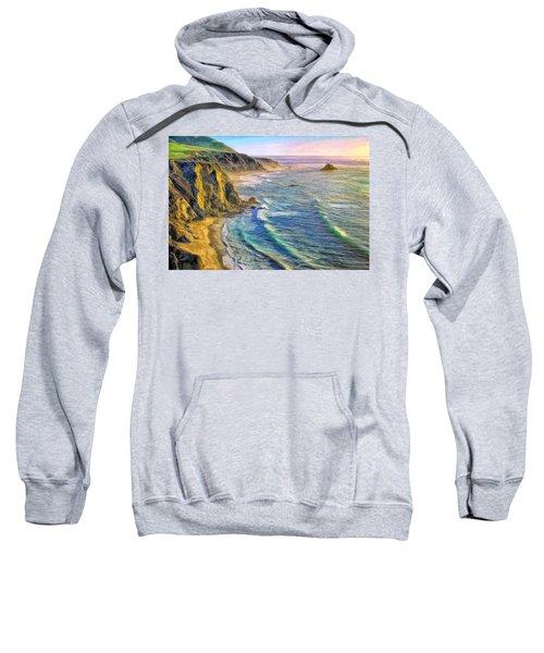 Golden Sunset At Big Sur Sweatshirt