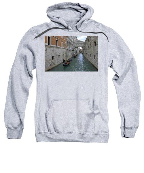 Gondolas Under Bridge Of Sighs Sweatshirt