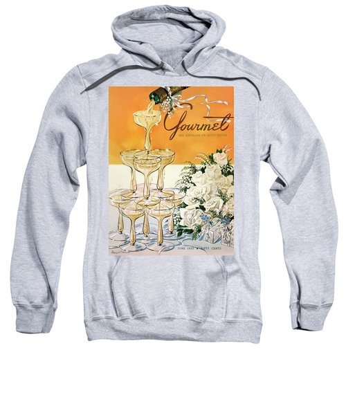 Gourmet Cover Featuring A Pyramid Of Champagne Sweatshirt