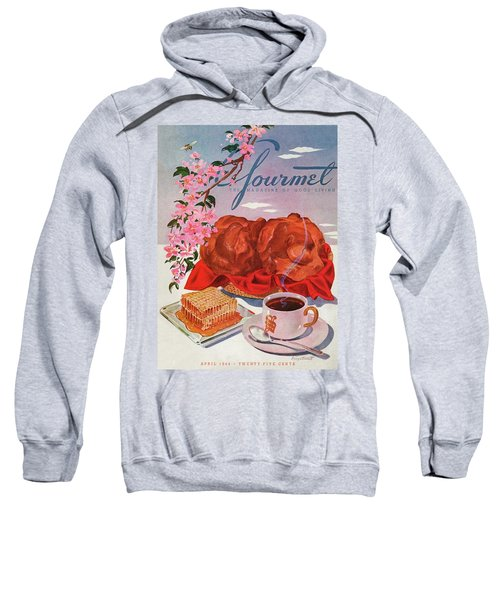 Gourmet Cover Illustration Of A Basket Of Popovers Sweatshirt