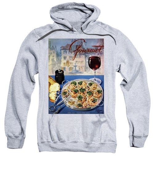 Gourmet Cover Illustration Of A Platter Sweatshirt