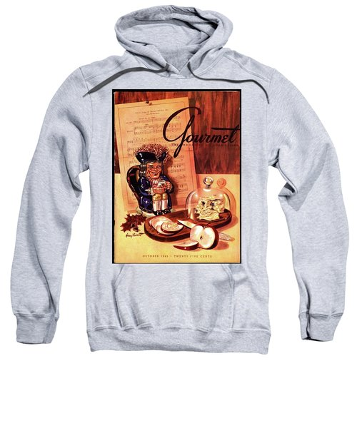 Gourmet Cover Illustration Of A Tray Of Cheese Sweatshirt