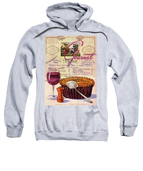 Gourmet Cover Illustration Of Deep Dish Pie Sweatshirt