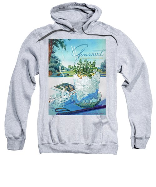 Gourmet Cover Illustration Of Mint Julep Packed Sweatshirt