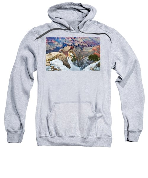 Sweatshirt featuring the photograph Grand Canyon In February by Mae Wertz