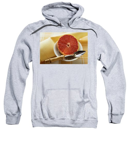Grapefruit Half With Grapefruit Spoon In A Bowl Sweatshirt