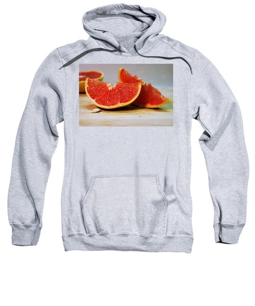 Grapefruit Slices Sweatshirt by Joseph Skompski