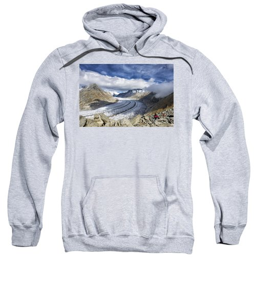Great Aletsch Glacier Swiss Alps Switzerland Europe Sweatshirt