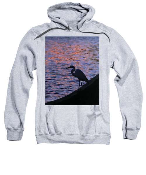 Great White Egret Silhouette  Sweatshirt