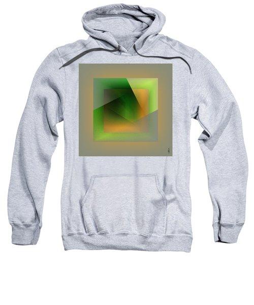 Sweatshirt featuring the digital art Green Color Wrap by Mihaela Stancu