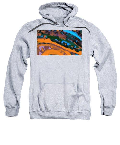 Sweatshirt featuring the digital art Green Virtual Voyage by Mihaela Stancu