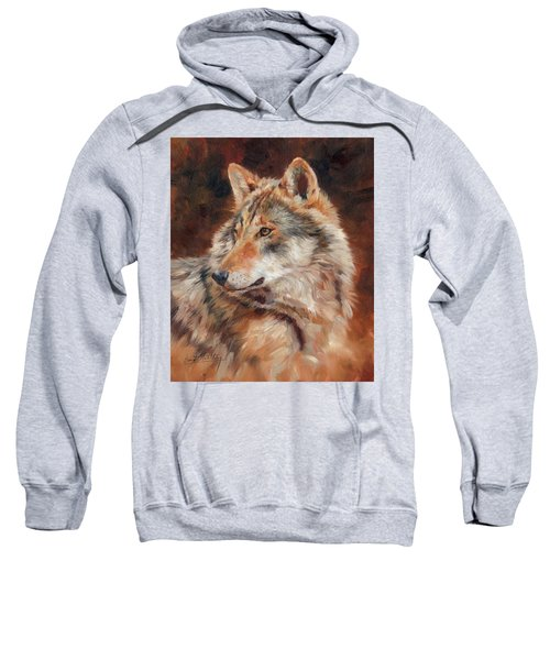 Grey Wolf Portrait Sweatshirt