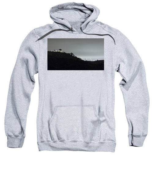 Griffith Park Observatory And Los Angeles Skyline At Night Sweatshirt