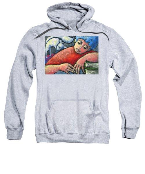 Haciendo Tareas En Mi Cuarto Sweatshirt