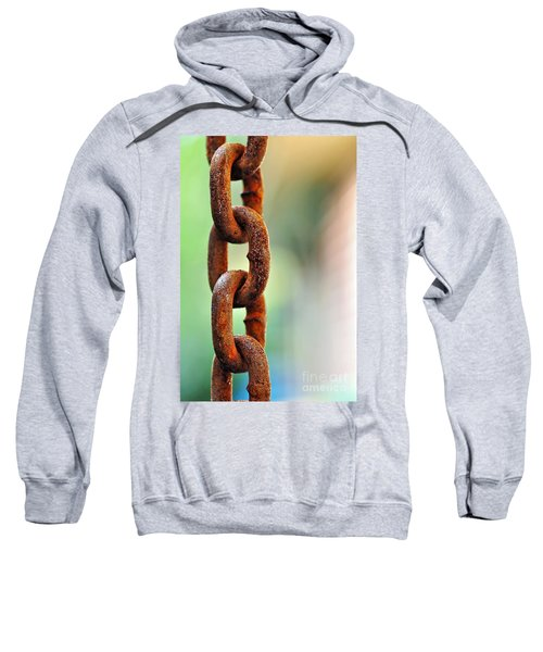 Hanging Chain Before Pastel Bokeh Sweatshirt