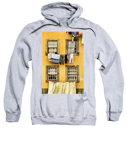 Hanging Clothes Of Old World Europe Sweatshirt