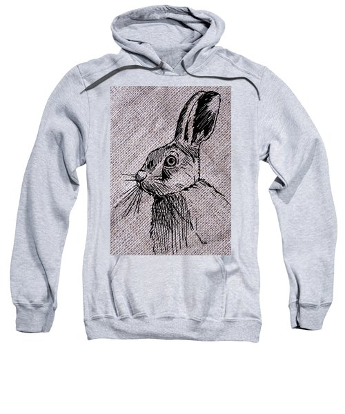 Hare On Burlap Sweatshirt