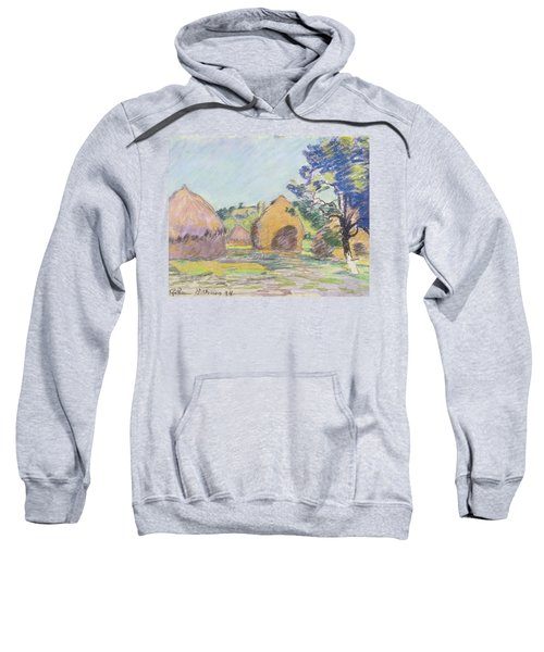Haystacks At Saint Cheron Sweatshirt