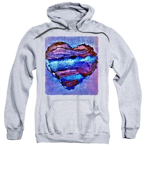 Heart Love Music Alcohol Inks  Sweatshirt