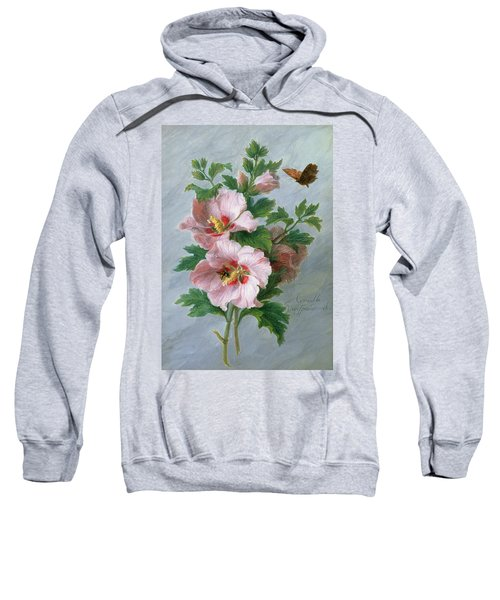 Hibiscus Against A Marble Ledge Sweatshirt