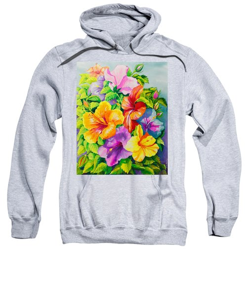 Hibiscus Rainbow Array Sweatshirt