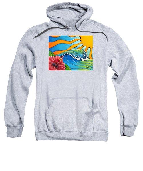 Hibiscus Wave Sweatshirt